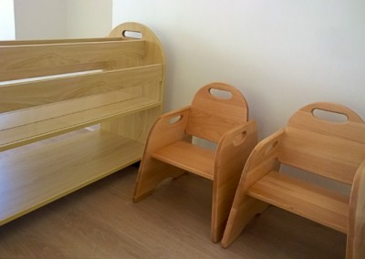 nursery chairs and bookcase