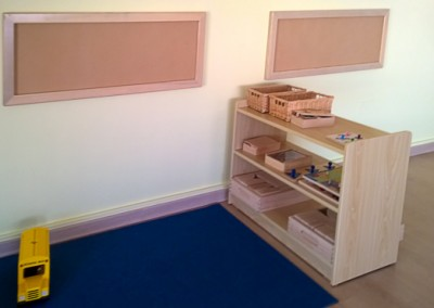 Nursery furniture shelves and wall frames